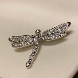 Swarovski! Crystal Dragónfly Pin